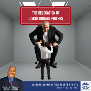 THE DELEGATION OF DISCRETIONARY POWERS