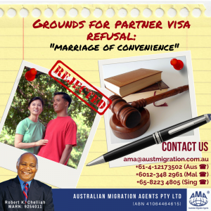 Grounds of Partner Visa Refusal: Marriage of Convenience