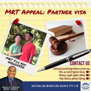 Migration Review Tribunal (MRT) Appeal Case: Partner Visa Refusal